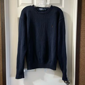 Polo By Ralph Lauren Navy Blue Pullover Sweater L